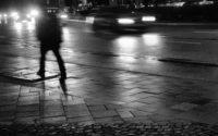 rainy street walk